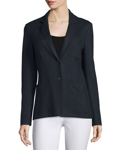 Rag & Bone Gilbert Wool Two-Button Blazer, Navy