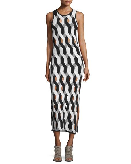 Rag & Bone Olympia Printed Cutout Midi Dress,