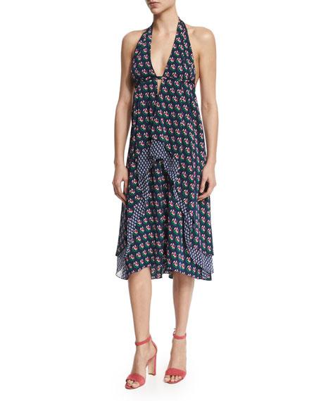 Diane von Furstenberg Leyland Zen Floral Halter Dress,