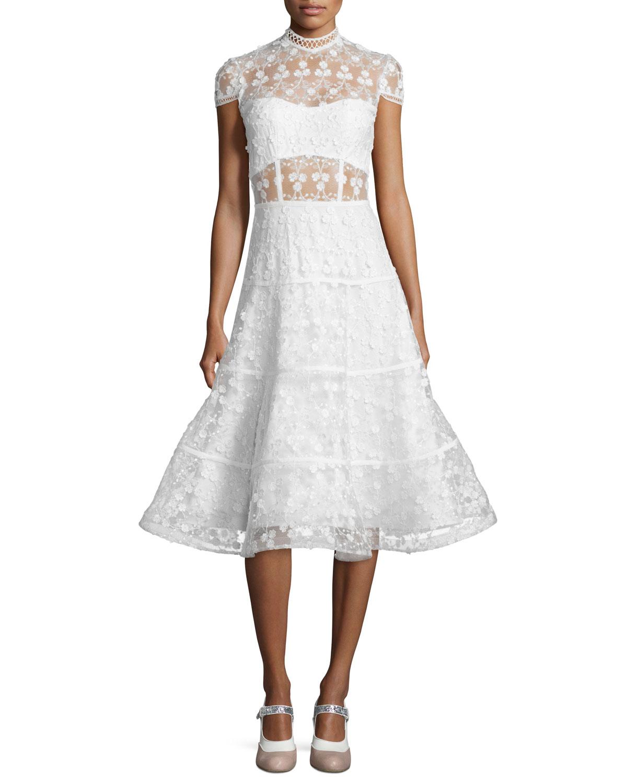 e61af8c9fe8 Alexis Kayla Floral Embroidered A-Line Midi Dress
