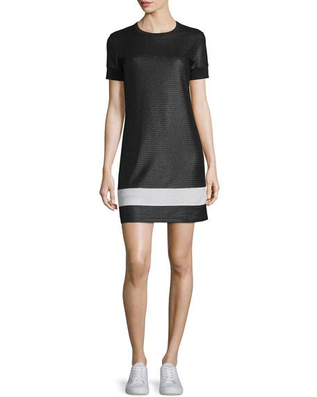 Rag & Bone Valerie Mesh Mini Dress, Black/White