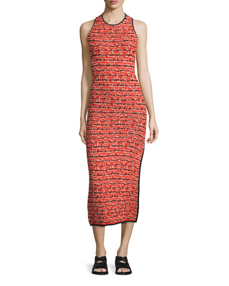 Rag & Bone Viola Ruched Printed Sheath Dress, Red