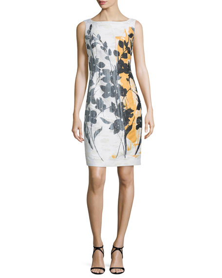 Lafayette 148 New York Faith Trellis Shadow Sheath Dress