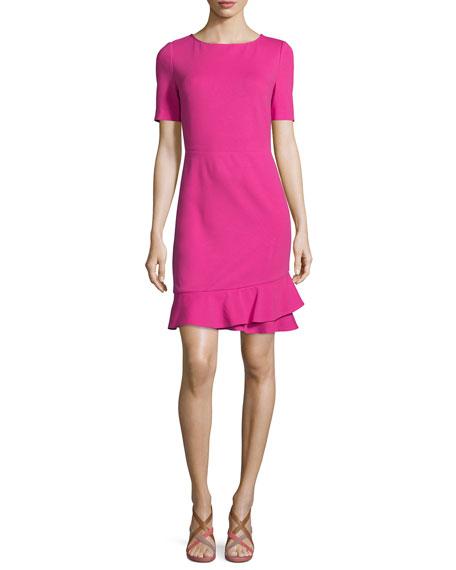 Diane von Furstenberg Serafina Crepe Sheath Dress, Vivid Pink