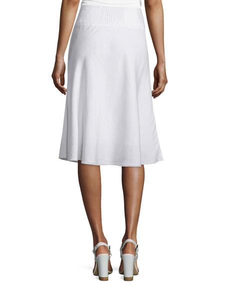 Summer Fling Linen-Blend Skirt, Petite