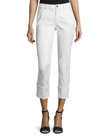 Lafayette 148 New York Thompson Curvy Cuffed Cropped