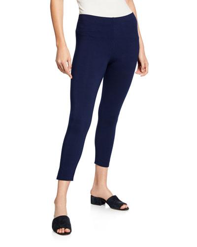 Stretch-Jersey Leggings, Black, Women's