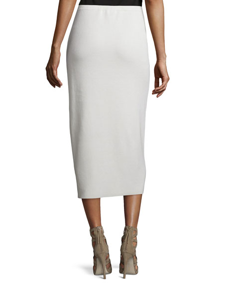 Washable Silk/Cotton Midi Pencil Skirt, Plus Size