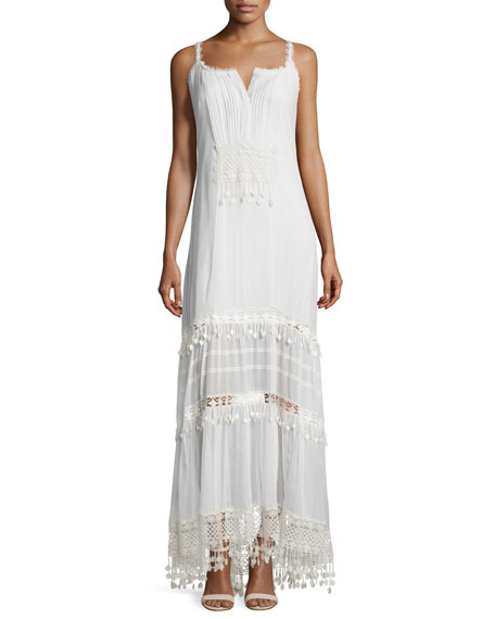 Elie Tahari Keagan Maxi Dress with Crochet Trim