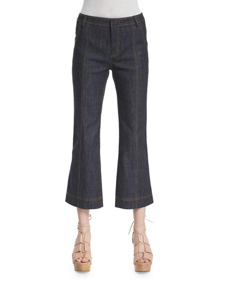 Derek Lam 10 Crosby Cropped Flare Jeans, Denim