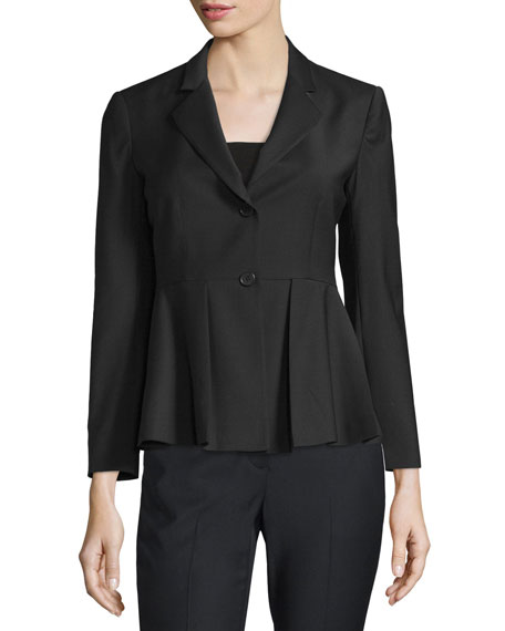 Braneve Continuous Wool-Blend Jacket, Black