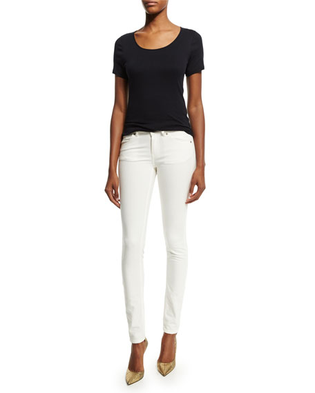 Four-Pocket Skinny Jeans, Off White