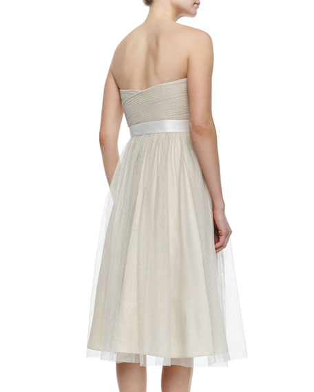 Strapless Fit & Flare Cocktail Gown