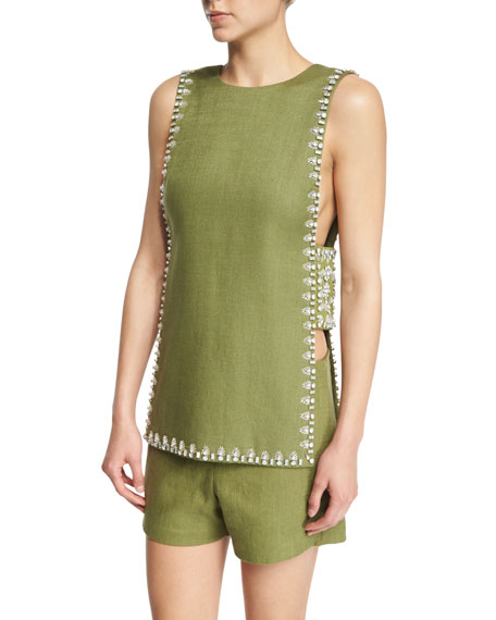 Tory Burch Rachel Sleeveless Embellished Top