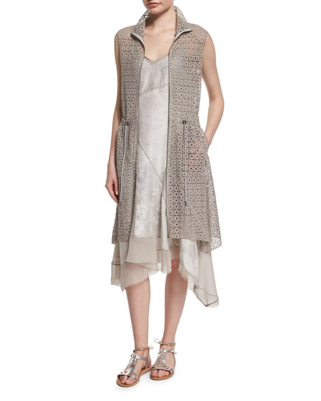 Elie Tahari Molly Long Lace Vest