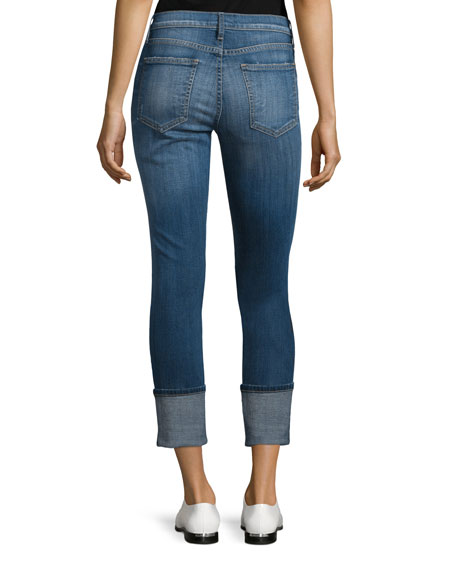 The Cuffed Skinny Cropped Jeans, Envy