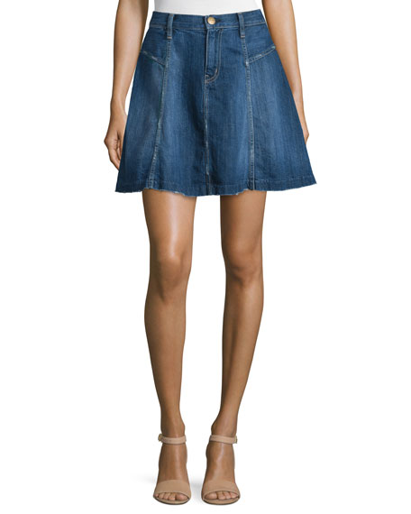 The Skater Denim Skirt, Ravine
