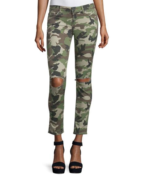 DL1961 Premium Denim Emma Camouflage Distressed Skinny Jeans,