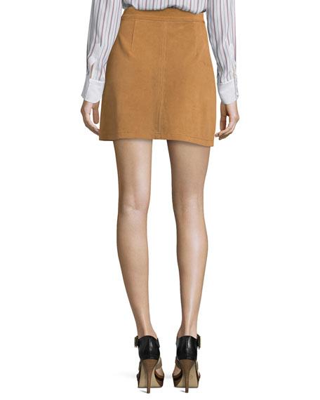 Le High A-Line Skirt, Tobacco