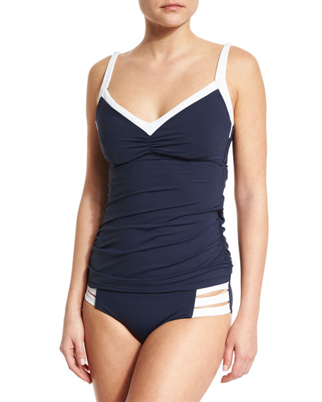Seafolly Block Party DD Cup Singlet Swim Top,