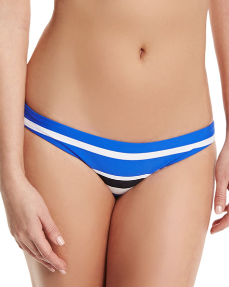 Walk The Line Striped Hipster Swim Bikini Bottom