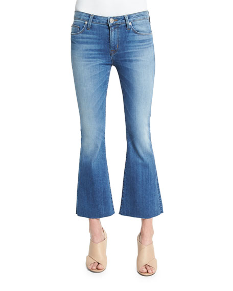 Hudson Mia Flare-Leg Cropped Jeans, Carve