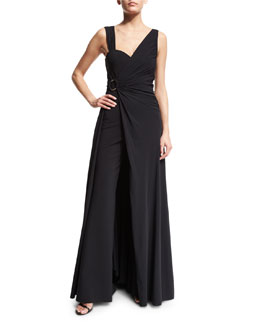 Tukarlie Two-in-One Convertible Jumpsuit, Nero