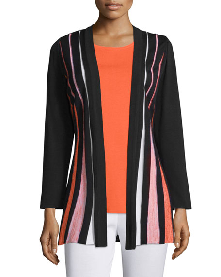 Misook Pleated-Front Long-Sleeve Jacket, Plus Size