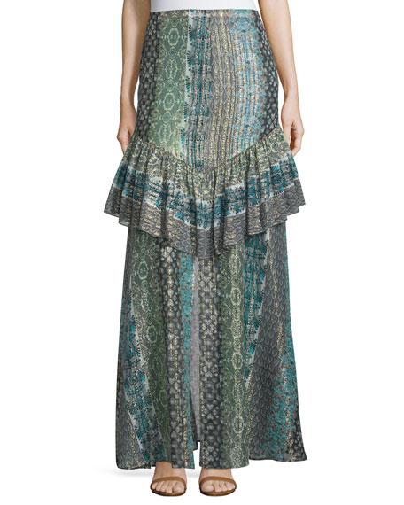 Rachel Zoe Meredith Printed Maxi Skirt, Stripe Print
