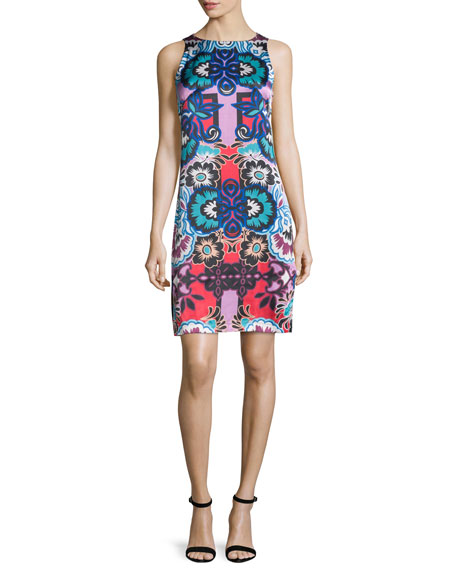 Nanette Lepore Sleeveless Floral-Print Sheath Dress, Red/Multi