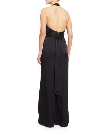 Sleeveless Tie-Waist Wide-Leg Jumpsuit