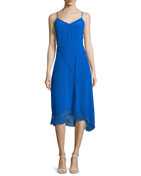 Elie Tahari Shirley Sleeveless Asymmetric-Hem Dress, Oasis