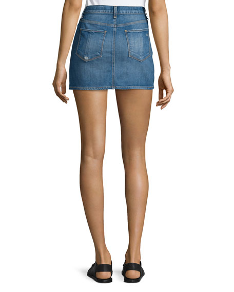 Denim Mini Skirt, Delancey