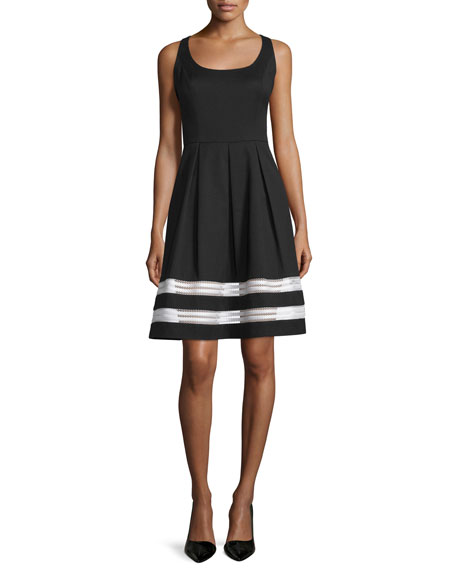 Carmen Marc Valvo Sleeveless Fit & Flare Dress