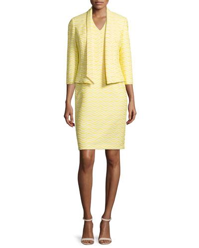 Jacquard Jacket & Matching Sheath Dress Set