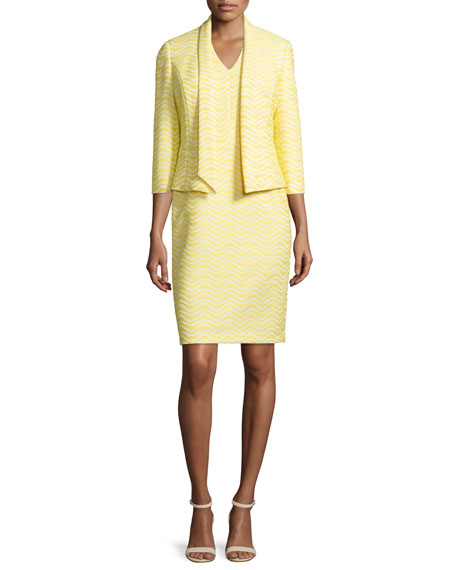 Albert Nipon Jacquard Jacket & Matching Sheath Dress
