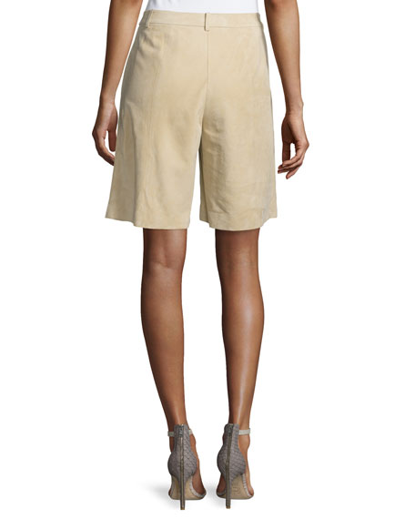 Image 2 of 3: Clarkson Pleated-Front Shorts, Sahara
