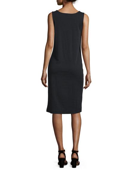 Sleeveless Luxe Pima Cotton Tank Dress, Plus Size