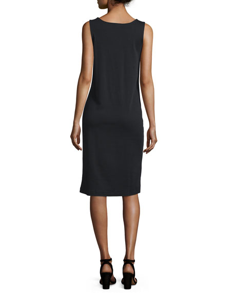 Sleeveless Luxe Pima Cotton Tank Dress