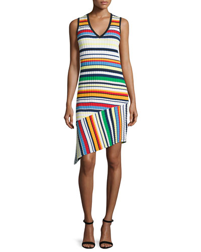 Directional Pop Stripe Dress