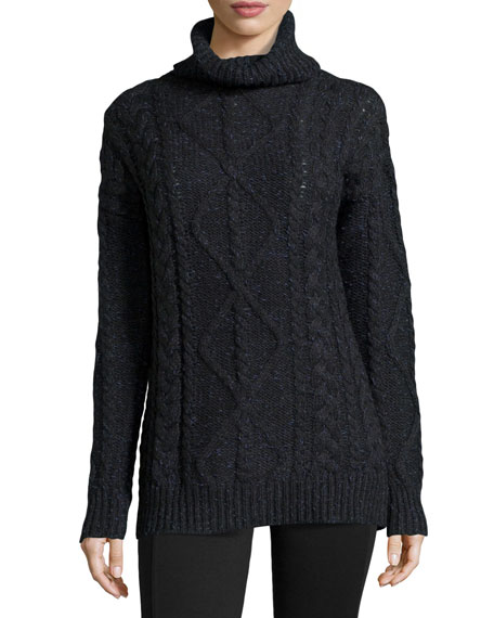 Long-Sleeve Chunky Turtleneck Sweater