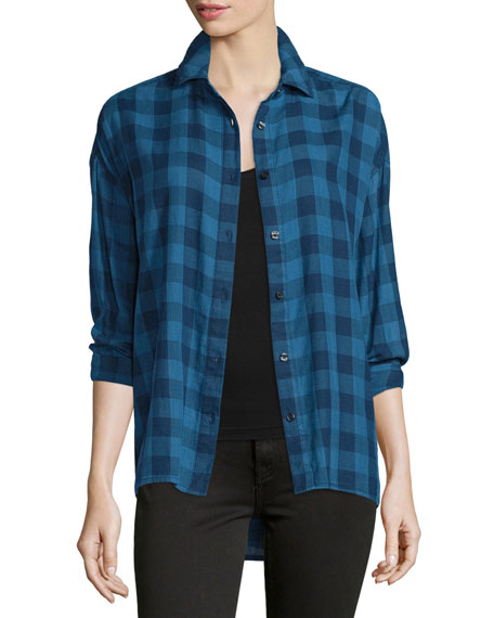 The Great The Big Shirt Button-Front Shirt, Indigo