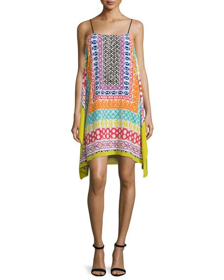 Trina Turk Sleeveless Printed Dress, Multi