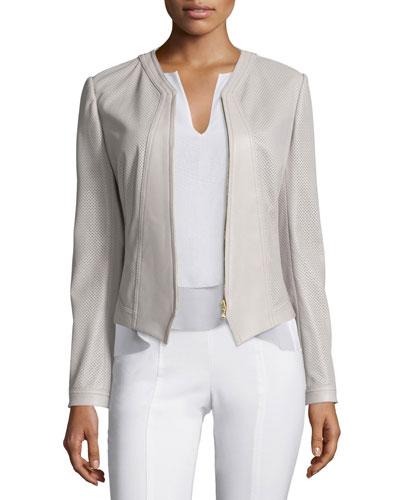 Nicki Perforated Leather Jacket