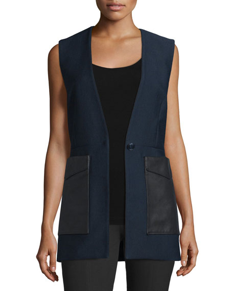 Rag & Bone Fleet Cotton-Blend Vest, Salute