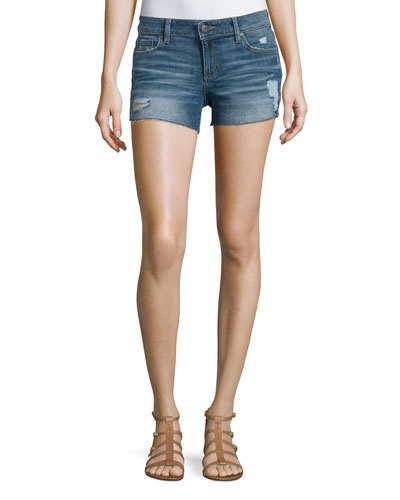 Renée Distressed Denim Shorts, Haskin