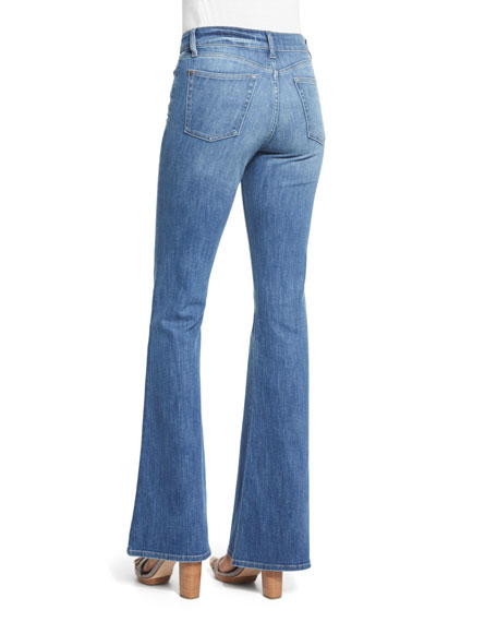 Heather High-Waist Boot-Cut Jeans, Leonard