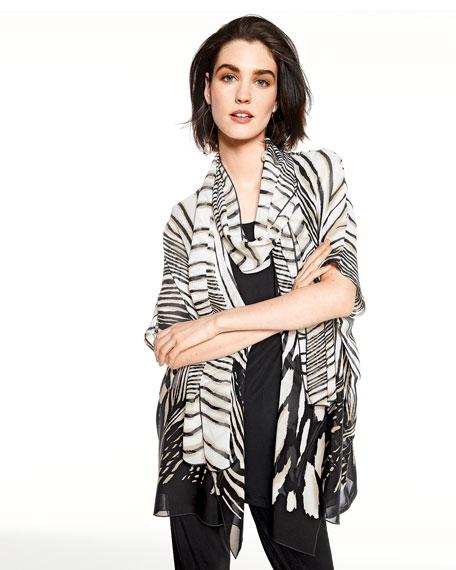 Plus Size Summer Safari Short-Sleeve Cardigan