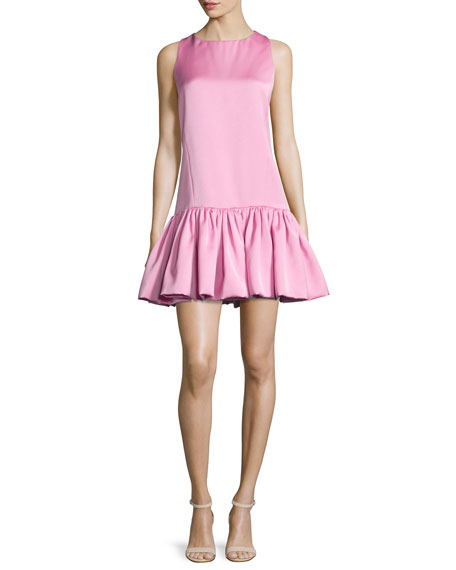 Mandy Dropped-Waist Mini Dress, Sunset Pink