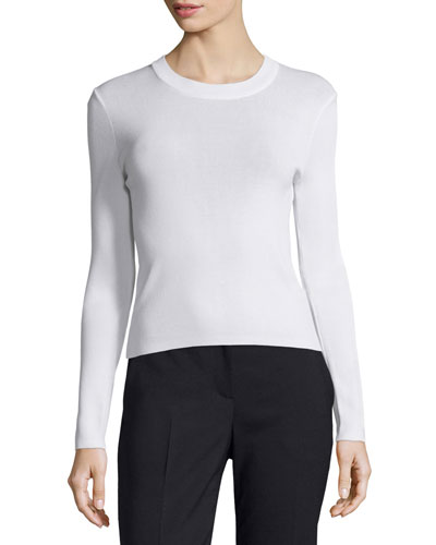 Lightweight Pullover Sweater, White